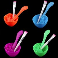 Wholesale New Style in1 DIY Facial Face Mask Stick Mixing Bowl Brush Spatulas Spoon Gauge Set Makeup Cosmetic Tool