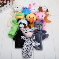 Wholesale Big Size hot sale Animal Glove Puppet Hand Dolls Plush Toy