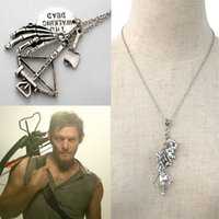 antique crossbow - The Walking Dead Movie Antique Silver Necklace Hat Gun Axe Daryl Dixon s Crossbow Pendant Necklace