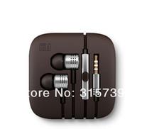 Wholesale 100pcs Stereo earphone Volume metal Fresh Earbuds headset headphone Tangle Free with Remote Mic For MI2 MI2S MI2A Hongmi