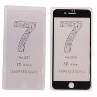 Wholesale Protect glass for apple iPhone7i7plus tempered film mm hot curved surface full coverage plus full screen tempered film