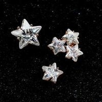 Wholesale Stylish Dazzling Zircon Crystal Reindeer Stud Earrings Earing For Women Plate Sterling Silver Pearl Ear Studs Pin Christmas Gift