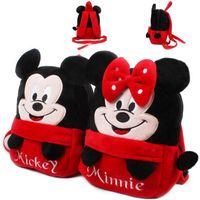 al por mayor chicas bolsa de regalo de cumpleaños-2017 bolsos encantadores del morral de las muchachas del mochila del morral del bebé de Mickey Minnie empaquetan los bolsos del morral de la felpa de los cabritos mini para el regalo de la Navidad del cumpleaños