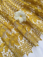 Wholesale YJSR New design high quality African Nigerin bridal lace fabric for wedding party dress making yards piece