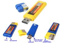 Wholesale 10pcs Brand New Portable Lighter Spy DVR Hidden Covert Camera Cam Camcorder USB DV Digital Video Recorder