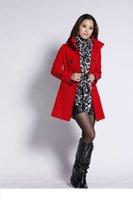 Wholesale New fashion women wool coats female woolen cloak outerwear medium long blended wool coat