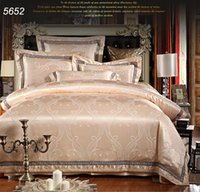 bed sheet and blankets - Simple and elegant silk bedding sets jacquard bed clothes zipper quilt duvet comforter blanket cover bed sheet pillowcases