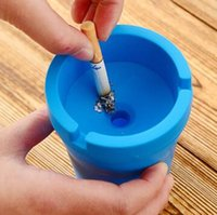 Wholesale Creative Plastic Car Ashtray Living Room Office Bathroom Desk Ashtrays Ash storage tray Box Ash Organizer