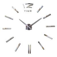Wholesale new hot sale clock watch wall stickers clocks home decoration modern quartz diy d acrylic Mirror Metal