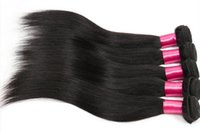Wholesale 8A Brazilian Straight Virgin human Hair Weft Natural Color Unprocessed