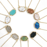 Wholesale musiling Jewelry Necklaces Pendants Kendra Scott Druzy Necklace Pendant Various Colors Gold Plated Geometry Jewelry Best for Lady