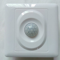 Wholesale 5 LUX LUX Light Switch White Pir Sensor Human Body Infrared Induction Adjustable Switch with CE