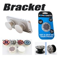 Wholesale Universal PopSockets Phone Expanding Stand Grip Pop Socket Holder Degree Bracket for iPhone Plus Samsung HTC LG Moto with Retail Box