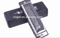 Wholesale SWAN SW1020H Hole Tone Senior Blues Stainless Steel Cover Plate Square Harmonica
