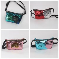 american makeup - Women Fashion Sequin Bags Mermaid Pocket Glitter Sequin Purse European American Tote Storage Bag Crossbody HandBags Cosmetic Makeup Bag F294