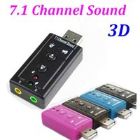Wholesale External USB to D Audio USB Sound Card Adapter Channel Professional Microphone Headset mm For Win XP Android Linux
