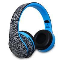 STN-12 Crackle estéreo plegable auriculares HD Bluetooth auricular FM MP3 Player manos libres auricular inalámbrico para Android / iPhone / PC STN12