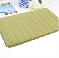 Wholesale New diamond pattern plain dyed soft mat for kichen bathroom coral velvet material carpet
