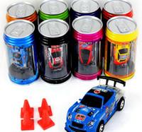 Wholesale 2017 color Mini Racer Remote Control Car Coke Can Mini RC Radio Remote Control Micro Racing Car