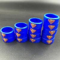 al por mayor gomas de bricolaje-Vaporizador Super Hero Vape Band Anillo de caucho de silicona para DIY Tank Mod velas personalizadas de vapor de silicona
