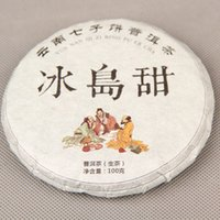 Wholesale G Raw Puer Tea Pu er Green Shen Puer puerh yr raw material slimming chinese tea organic food Yunnan Iceland Freeshipping