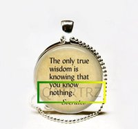 Pendant Necklaces Bohemian Unisex Wholesale Quote Jewelry,Socrates Necklace,True Wisdom is Knowing that You Know Nothing Art Pendant Jewelry