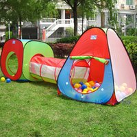 adventure play tent - New Portable Children Kids Pop Up Adventure Play Tent House Tunnel Set Indoor Outdoor Garden Playhouse Ocean Ball Pit Pool Tent