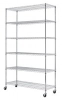 Wholesale Chrome quot x48 quot x18 quot Tier Layer Shelf Adjustable Wire Metal Shelving Rack With Wheels