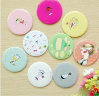 Wholesale makeup accessories fashion girl cartoon small portable beauty makeup mirrors Compact Mirrors