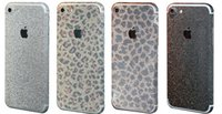 Wholesale For iPhone plus Frosted Glitter Diamond Full Body Skin Sticker Front Back Sides Bling Skin Protector Cell Phone Skins Sticker