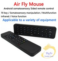Wholesale MP3 Air Fly Mouse MX3 GHz Wireless Keyboard Remote Control Somatosensory IR Learning Axis without Mic for Android TV Box