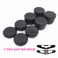 Wholesale 8pcs Thumb Grips Joystick High Enhancements Cover Caps For Play Station PS4 PS3 Xbox one Controller with led sticker decal