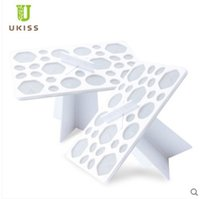 Cheap UKISS Diversified Function Air Brush Holder Professional Air Brush Storage Rack Make Up Tools Free Shipping