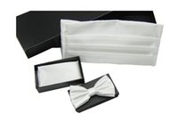 Wholesale Hot selling Bridegroom ties kerchief Cummerbunds set for new style The groom accessories colour in stock