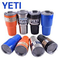 Wholesale 15 Colors YETI Tumbler Rambler Cups Large Capacity OZ Stainless Steel Tumbler Mugs Pink Gold Blue Orange Lime Mint Green DHL