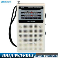 Wholesale Free DHL Fedex R Radio Receiver FM AM Mini Pocket In Built In Speaker Battery Radio