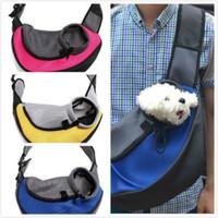 al por mayor eslingas pequeños perros-Cargador para mascotas Carrying Cat Dog Puppy Pequeño animal Sling Front Carrier Malla Comfort Travel Tote Bolsa de hombro Pet Backpack SL