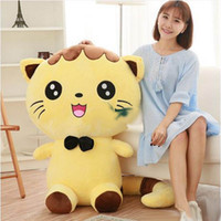 achat en gros de énorme poupée-Jumbo 100cm Lovely Soft Cartoon Cat Peluche Toy 39 '' Huge Animal Cats Stuffed Doll Pillow Baby Present
