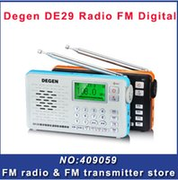 Wholesale Degen DE29 FM MW SW Full Band short wave dab digital radio kits with MP3 lyric display DSP RECEIVER worldwide voice receiver