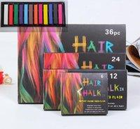 Wholesale 12 Colors set Chalk Hair Temporary Chalk Hair Colors Dye Pastel Bug Rub Hair Chalk F02