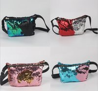 Wholesale Mermaid Sequin Pocket Sequins Fashion Bags Glitter Purse Women Tote Storage Bag Crossbody HandBags Cosmetic Makeup Bag KKA1284