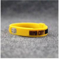 Cheap Charm Bracelets fashion jewelry Best China-Miao Unisex silicone bracelet