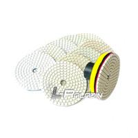 Wholesale 3 in Diamond Flexible Wet Polishing Disc M10 or M14 Holder for Marble Stone Ceramic Granite Tile Concrete Grinding