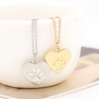 Celtic best gift dogs - Hotsale Creative Love Heart Patte Dog Claw Kitty Cat Pendant Necklace Amateur Jewelry Best Valentine Day and Christmas Gift