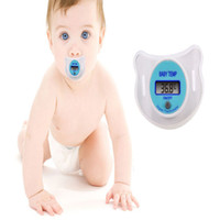 Wholesale LCD Baby Nipple Thermometer Infant Child Digital Binky Pacifier Soother Temp Mouth Health Safety