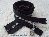Wholesale 3 zinc alloy sleeve silent ykk zipper bright copper plating zipper cm light silver mouths black skirt waist side zipper