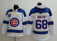 Wholesale Chicago Cubs Jorge Soler Hoodie Discount Cheap Champion Sweater Lace Up Pullover Hooded Sweatshirt Stitched Baseball Hoodies for Men