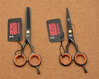 Wholesale H1004 Japan Kasho Black Colour Hairdressing Scissors Factory Price Cutting Scissors Thinning Shears professional Human Hair Scissors