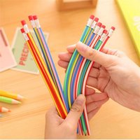 Wholesale Can Be Bent Hb Standard Pencils Rainbow Color Drawing Sketch Pencils Children s Creative Gifts School Office Supplies