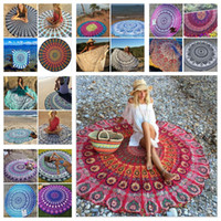 adult bath towels - Round Mandala Bikini Beach Cover Ups Beach Towel Bikini Cover Ups Bohemian Hippie Beachwear Beach Sarongs Shawl Bath Towel Yoga Mat F286